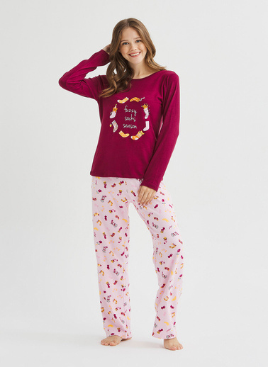 Penti Fuzzy Termal Pijama Takımı Renkli
